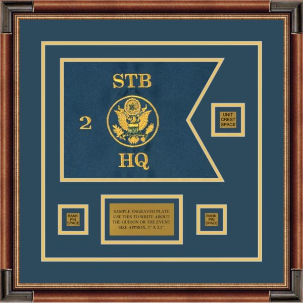 "Branch Immaterial 12"" x 9"" Guidon Design 129-D2-M1 Framed"