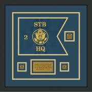 "Branch Immaterial 12"" x 9"" Guidon Design 129-D2-M2 Framed"