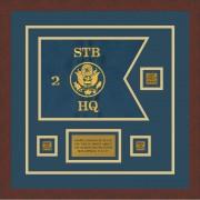 "Branch Immaterial 12"" x 9"" Guidon Design 129-D2-M3 Framed"