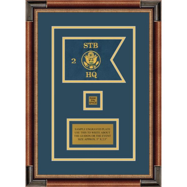 "Branch Immaterial 7"" x 5"" Guidon Design 75-D2-M1 Framed"