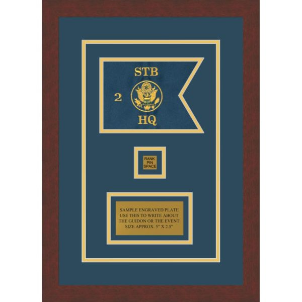 "Branch Immaterial 7"" x 5"" Guidon Design 75-D2-M3 Framed"