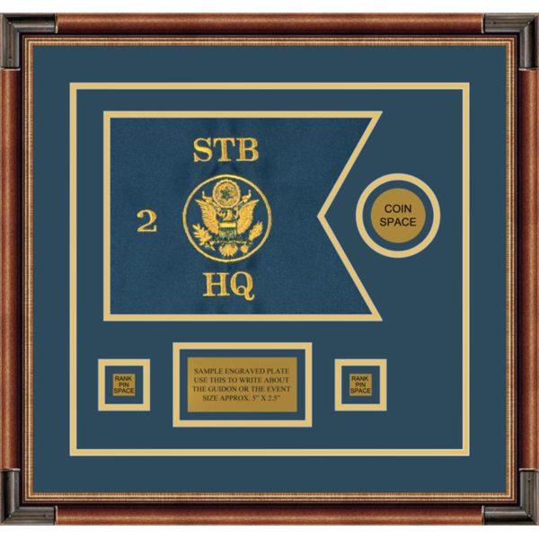 "Branch Immaterial 12"" x 9"" Guidon Design 129-D3-M1 Framed"