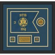 "Branch Immaterial 12"" x 9"" Guidon Design 129-D3-M2 Framed"