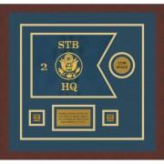 "Branch Immaterial 12"" x 9"" Guidon Design 129-D3-M3 Framed"
