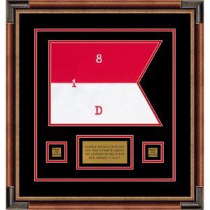 "Cavalry Version 1 12"" x 9"" Guidon Design 129-D1-M1 Framed"