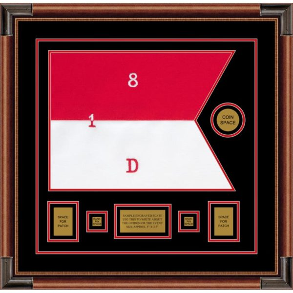 "Cavalry Version 1 20"" x 15"" Guidon Design 2015-D1-M4 Framed"