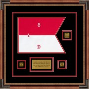 "Cavalry Version 1 12"" x 9"" Guidon Design 129-D2-M1 Framed"