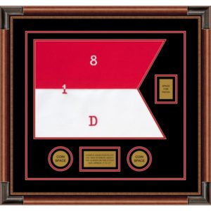 "Cavalry Version 1 20"" x 15"" Guidon Design 2015-D2-M4 Framed"