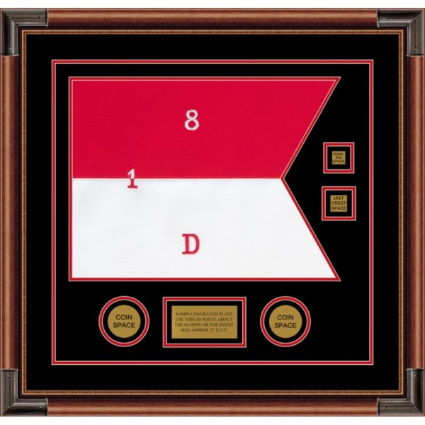 "Cavalry Version 1 20"" x 15"" Guidon Design 2015-D3-M4 Framed"