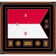 "Cavalry Version 1 28"" x 20"" Guidon Design 2820-D3-M4 Framed"