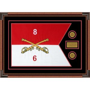 "Cavalry Version 2 28"" x 20"" Guidon Design 2820-D1-M4 Framed"