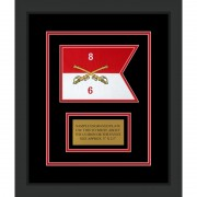 "Cavalry Version 2 7"" x 5"" Guidon Design 75-D1-M2 Framed"