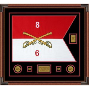 "Cavalry Version 2 28"" x 20"" Guidon Design 2820-D2-M4 Framed"