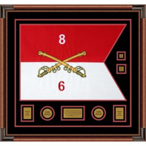 "Cavalry Version 2 28"" x 20"" Guidon Design 2820-D3-M4 Framed"