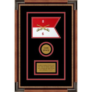 "Cavalry Version 2 7"" x 5"" Guidon Design 75-D3-M1 Framed"