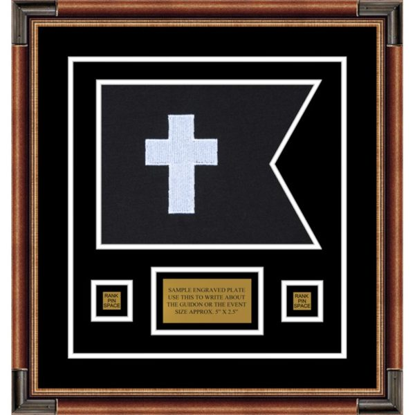 "Chaplain 12"" x 9"" Guidon Design 129-D1-M1 Framed"
