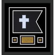 "Chaplain 12"" x 9"" Guidon Design 129-D1-M2 Framed"