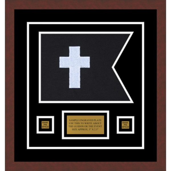 "Chaplain 12"" x 9"" Guidon Design 129-D1-M3 Framed"