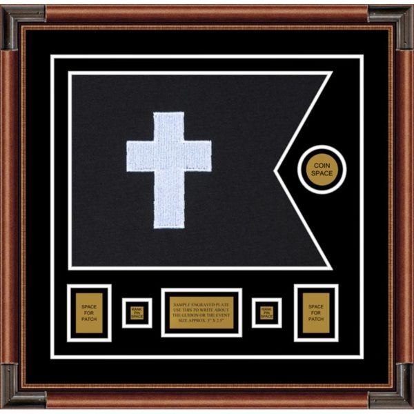 "Chaplain 20"" x 15"" Guidon Design 2015-D1-M4 Framed"
