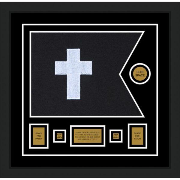 "Chaplain 20"" x 15"" Guidon Design 2015-D1-M5 Framed"