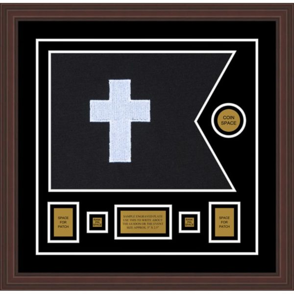 "Chaplain 20"" x 15"" Guidon Design 2015-D1-M6 Framed"