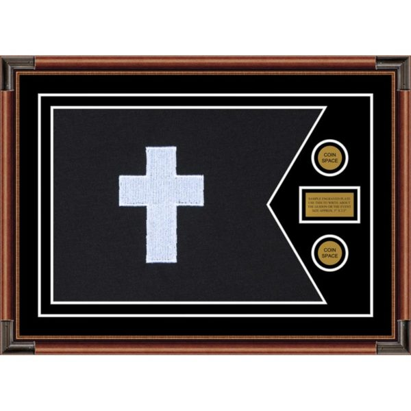 "Chaplain 28"" x 20"" Guidon Design 2820-D1-M4 Framed"