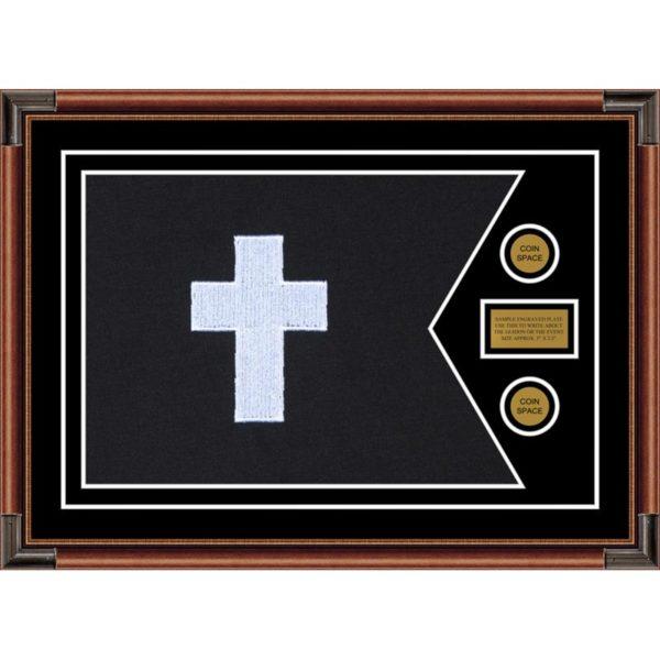 "Chaplain 28"" x 20"" Guidon Design 2820-D1-M4 Framed"