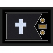 "Chaplain 28"" x 20"" Guidon Design 2820-D1-M5 Framed"