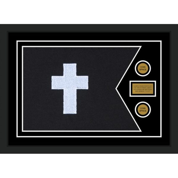 "Chaplain 28"" x 20"" Guidon Design 2820-D1-M5 Framed"
