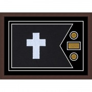 "Chaplain 28"" x 20"" Guidon Design 2820-D1-M6 Framed"