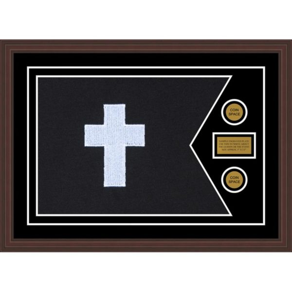"Chaplain 28"" x 20"" Guidon Design 2820-D1-M6 Framed"
