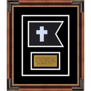 "Chaplain 7"" x 5"" Guidon Design 75-D1-M1 Framed"