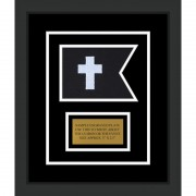 "Chaplain 7"" x 5"" Guidon Design 75-D1-M2 Framed"