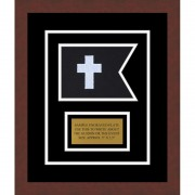 "Chaplain 7"" x 5"" Guidon Design 75-D1-M3 Framed"