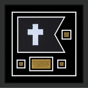 "Chaplain 12"" x 9"" Guidon Design 129-D2-M2 Framed"