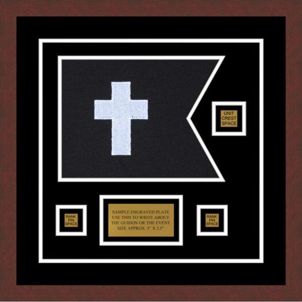 "Chaplain 12"" x 9"" Guidon Design 129-D2-M3 Framed"