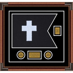 "Chaplain 20"" x 15"" Guidon Design 2015-D2-M4 Framed"