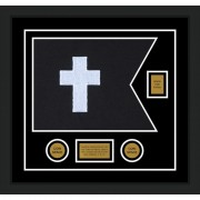 "Chaplain 20"" x 15"" Guidon Design 2015-D2-M5 Framed"