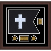 "Chaplain 20"" x 15"" Guidon Design 2015-D2-M6 Framed"