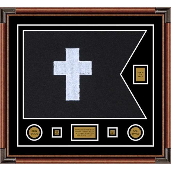 "Chaplain 28"" x 20"" Guidon Design 2820-D2-M4 Framed"