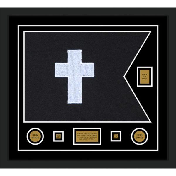 "Chaplain 28"" x 20"" Guidon Design 2820-D2-M5 Framed"