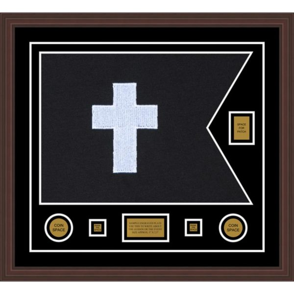 "Chaplain 28"" x 20"" Guidon Design 2820-D2-M6 Framed"