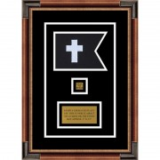 "Chaplain 7"" x 5"" Guidon Design 75-D2-M1 Framed"