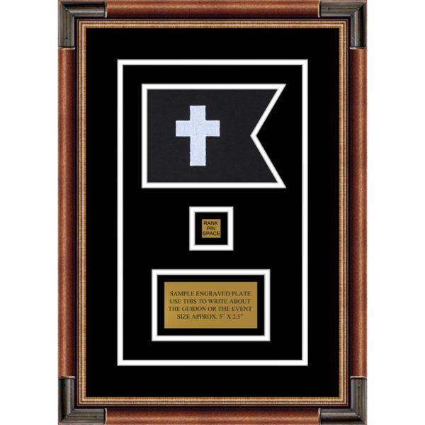 "Chaplain 7"" x 5"" Guidon Design 75-D2-M1 Framed"