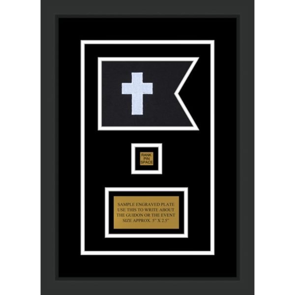 "Chaplain 7"" x 5"" Guidon Design 75-D2-M2 Framed"