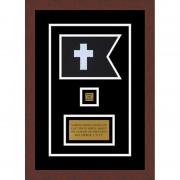 "Chaplain 7"" x 5"" Guidon Design 75-D2-M3 Framed"