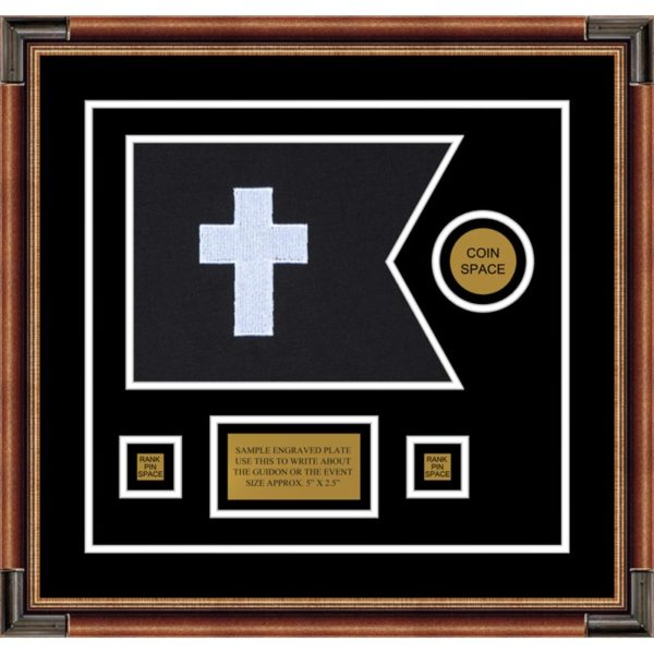 "Chaplain 12"" x 9"" Guidon Design 129-D3-M1 Framed"