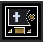 "Chaplain 12"" x 9"" Guidon Design 129-D3-M2 Framed"