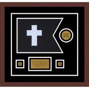 "Chaplain 12"" x 9"" Guidon Design 129-D3-M3 Framed"