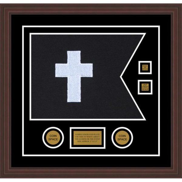 "Chaplain 20"" x 15"" Guidon Design 2015-D3-M6 Framed"